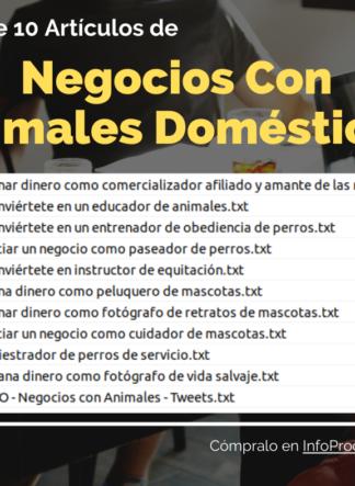 Pack-10Articulos-NegociosConAnimalesDomesticos-InfoProductos.com
