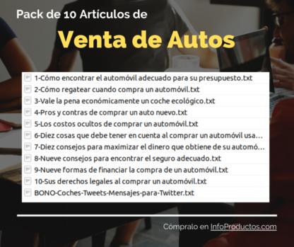 Pack10Articulos-VentaDeAutos-InfoProductos.com