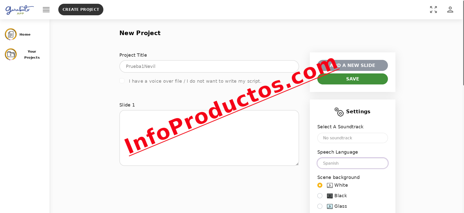 1-CrearProyecto-GarabatoAPP-infoproductos.com